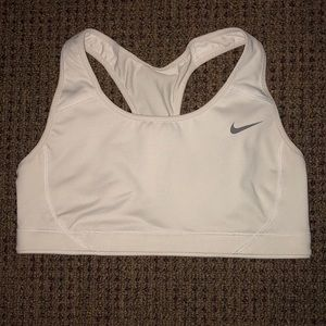 White Nike Sports Bra